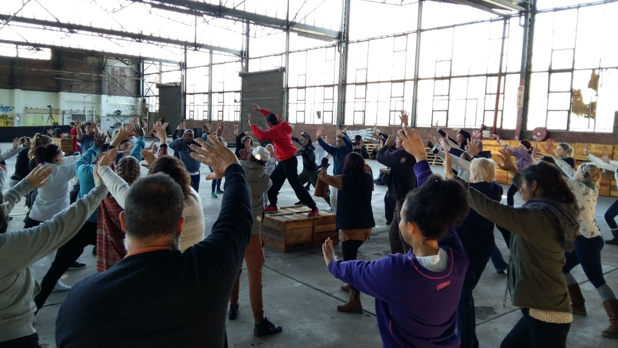 Tai Chi at Secret Sunday event in Johannesburg