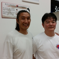 Sifu Leo with Sifu Bau Sen Liang, in Toronto