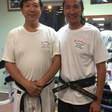 Master Darin Yee 7th dan Uechi Ryu, with Sifu Leo in Boston