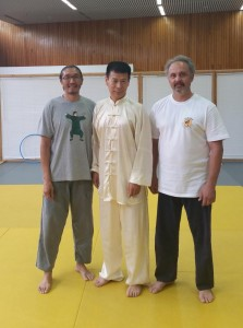 Leo in Greece with Grandmaster Jesse Tsao
