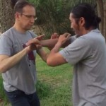 Push hands exercise demo at Tai Chi Retreat