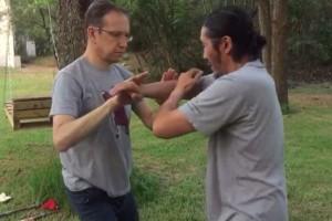 Push hands exercise demo at Tai Chi Retreat