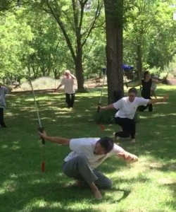 sword form of Tai chi