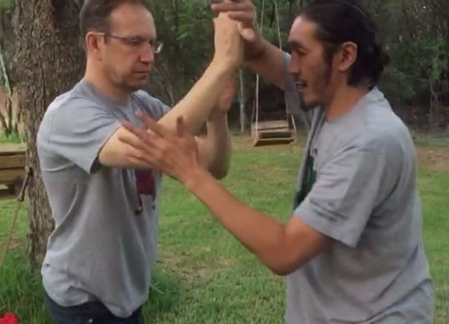 Push Hands in Tai Chi