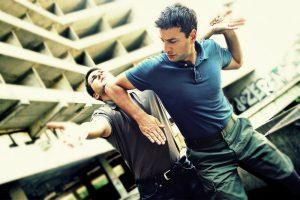 Self defense includes striking your attacher