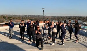 Corporate Self Defense Course on a roof top